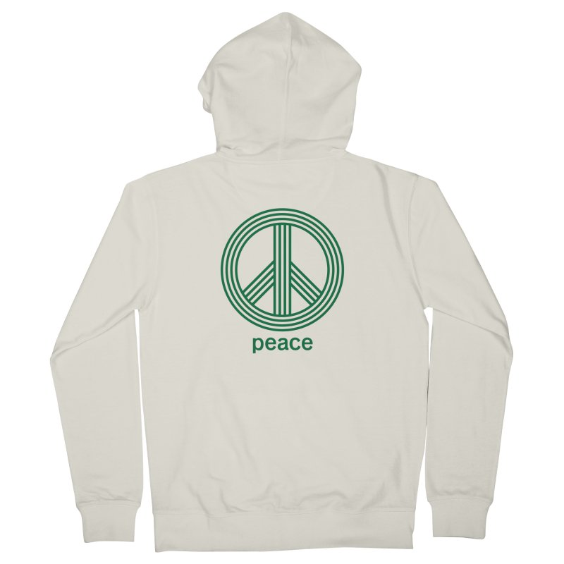 Peace Men's French Terry Zip-Up Hoody by elizabethreay's Artist Shop