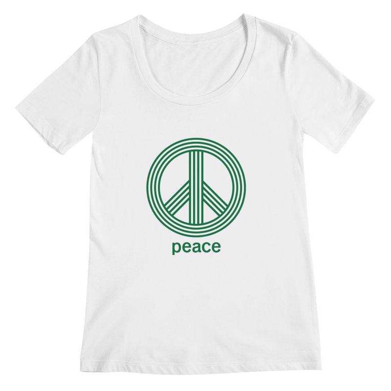 Peace Women's Regular Scoop Neck by elizabethreay's Artist Shop