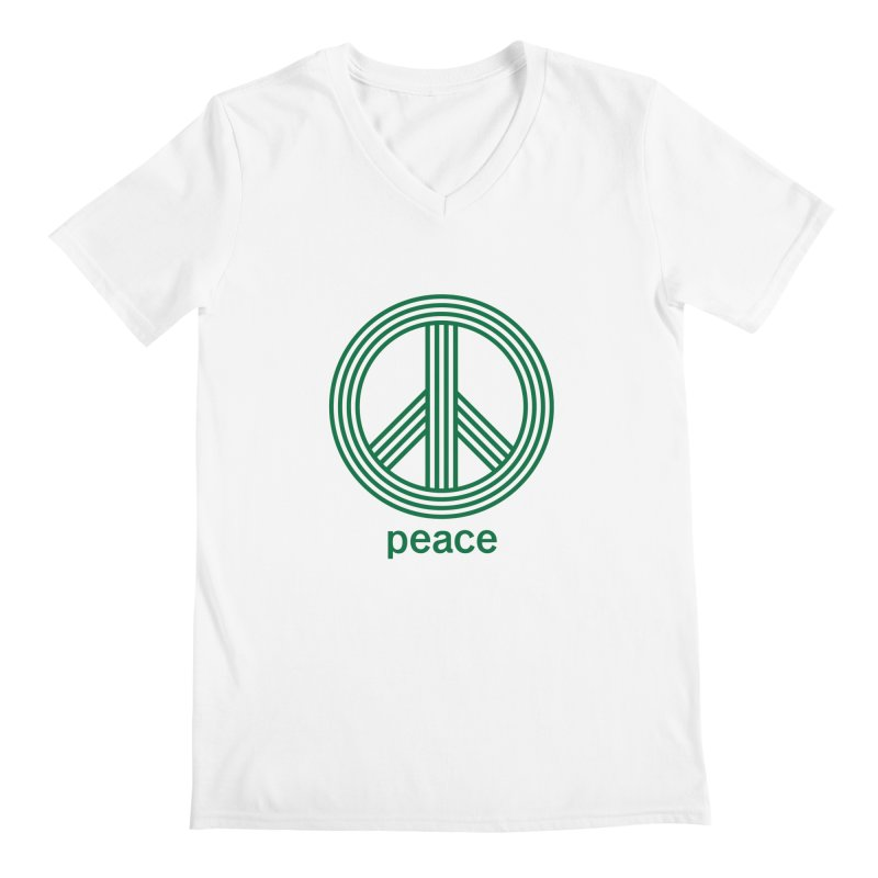 Peace Men's Regular V-Neck by elizabethreay's Artist Shop