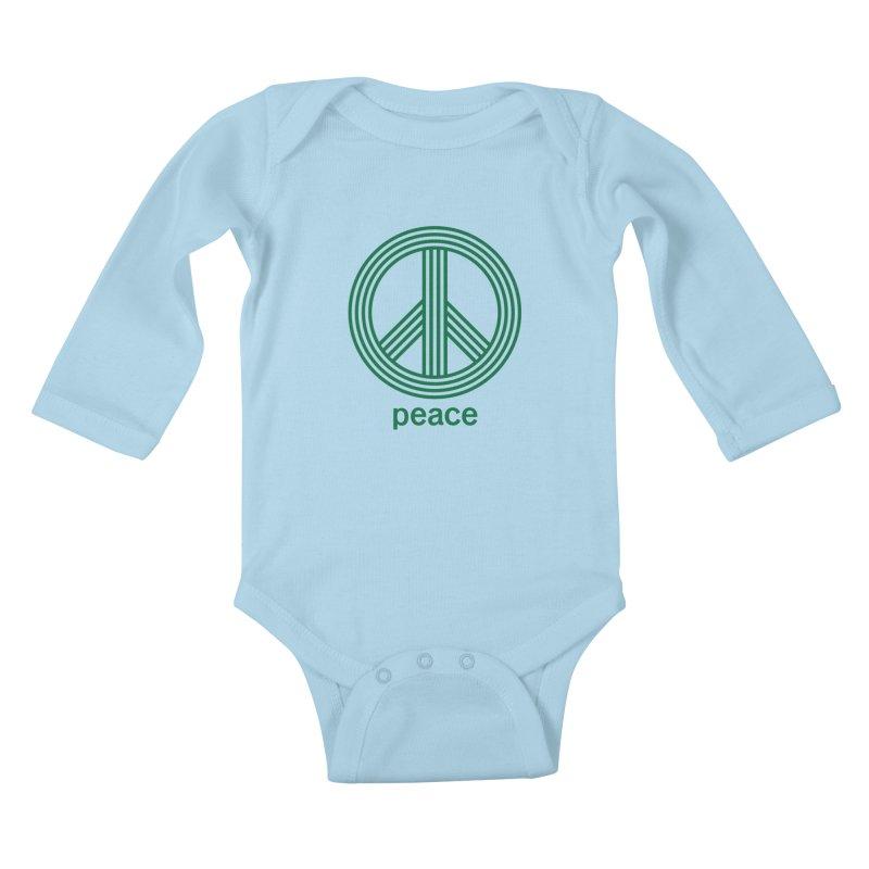 Peace Kids Baby Longsleeve Bodysuit by elizabethreay's Artist Shop