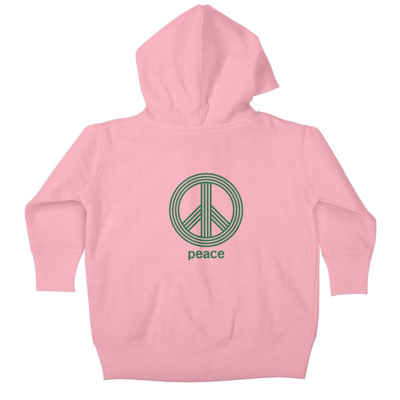 Peace Kids Baby Zip-Up Hoody by elizabethreay's Artist Shop