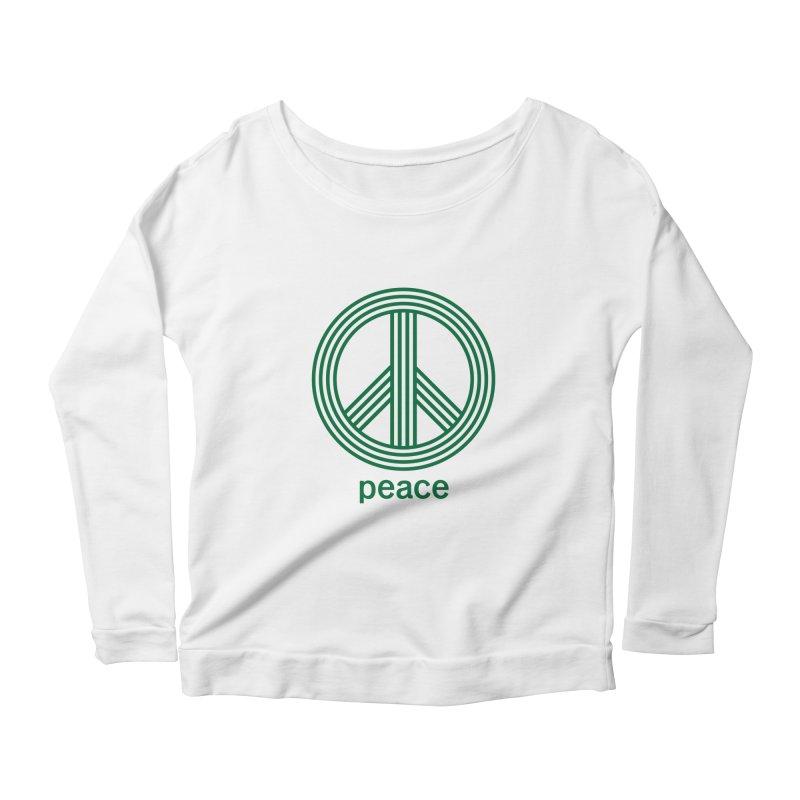 Peace Women's Scoop Neck Longsleeve T-Shirt by elizabethreay's Artist Shop