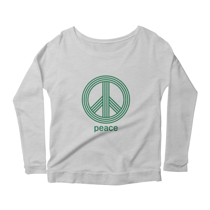 Peace Women's Scoop Neck Longsleeve T-Shirt by elizabethreay's Artist Shop