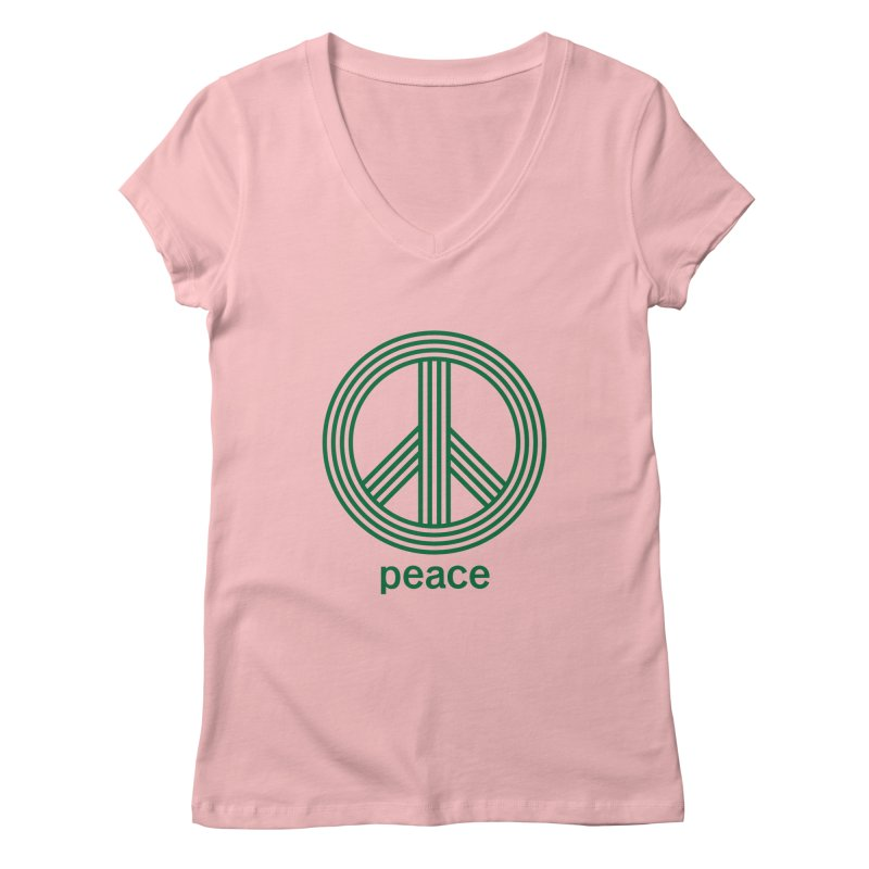 Peace Women's Regular V-Neck by elizabethreay's Artist Shop