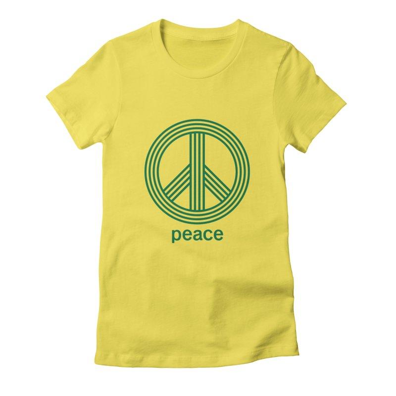 Peace Women's Fitted T-Shirt by elizabethreay's Artist Shop