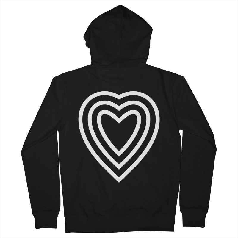 Love Men's French Terry Zip-Up Hoody by elizabethreay's Artist Shop