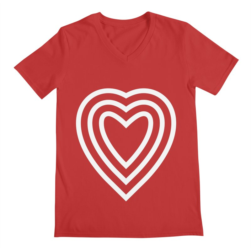 Love Men's Regular V-Neck by elizabethreay's Artist Shop