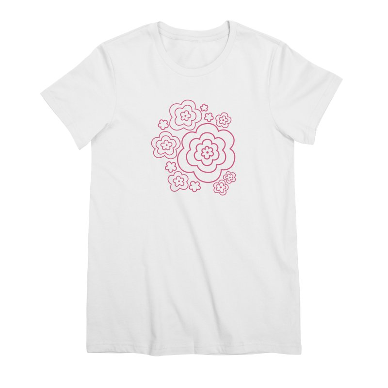 Flower Power Women's Premium T-Shirt by elizabethreay's Artist Shop