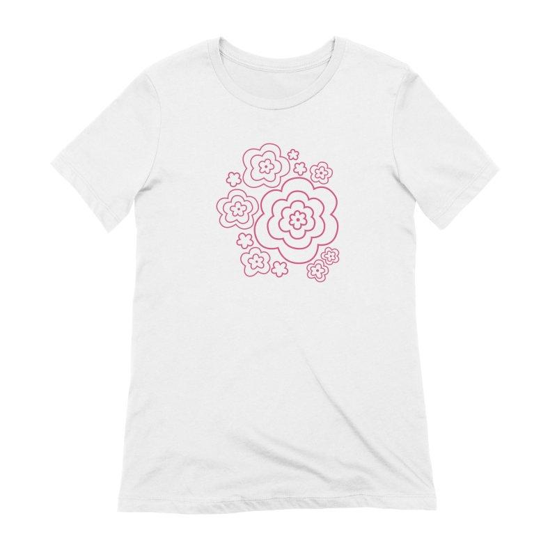 Flower Power Women's Extra Soft T-Shirt by elizabethreay's Artist Shop