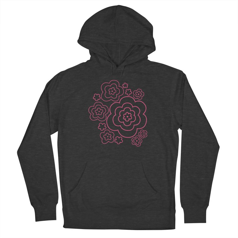 Flower Power Men's French Terry Pullover Hoody by elizabethreay's Artist Shop