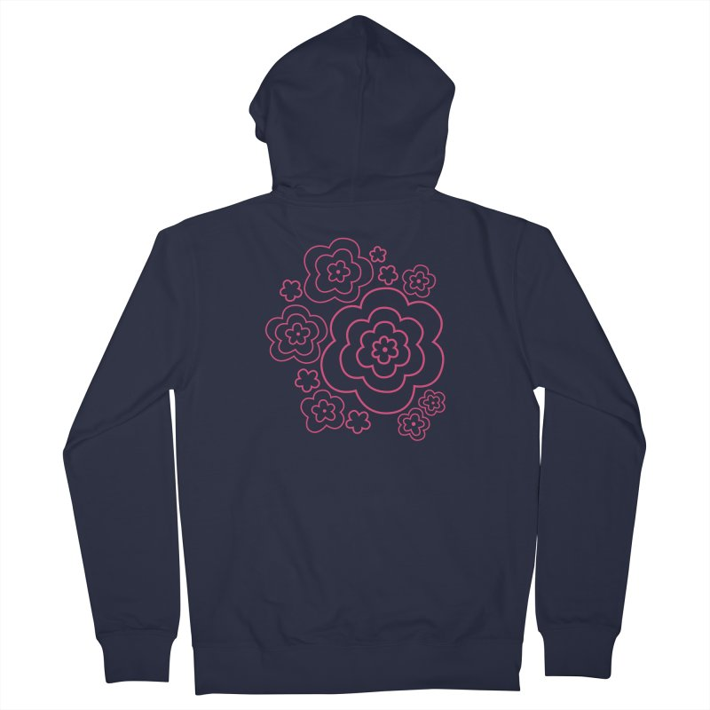 Flower Power Women's French Terry Zip-Up Hoody by elizabethreay's Artist Shop