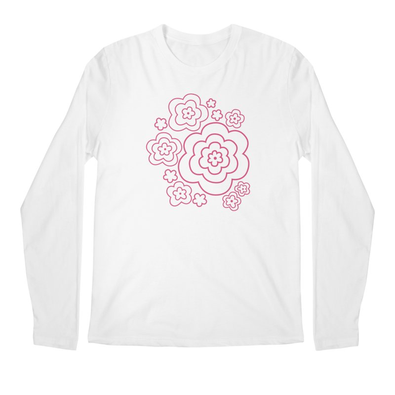 Flower Power Men's Regular Longsleeve T-Shirt by elizabethreay's Artist Shop