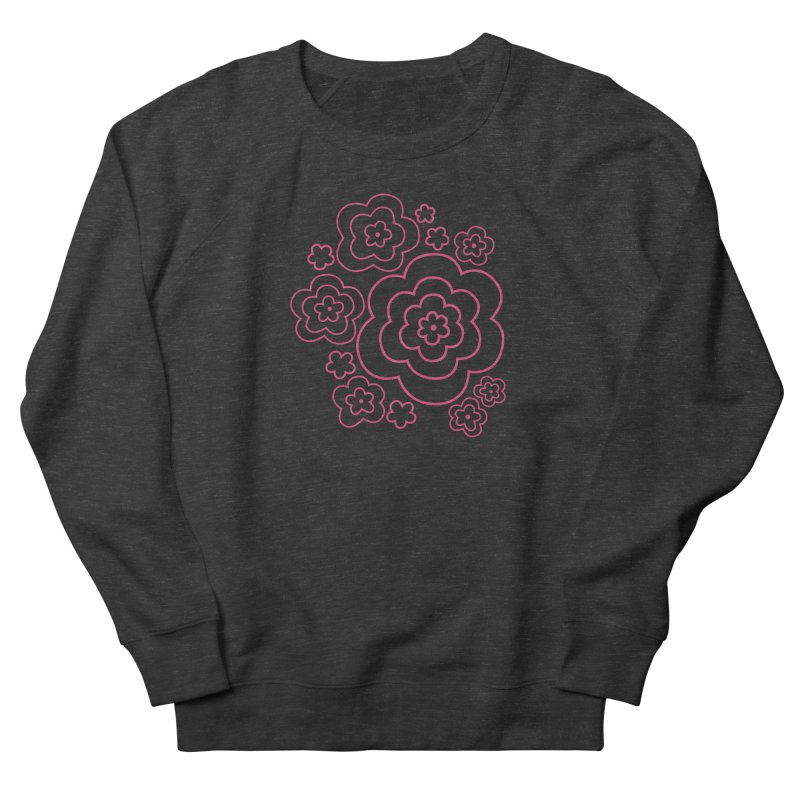 Flower Power Women's French Terry Sweatshirt by elizabethreay's Artist Shop
