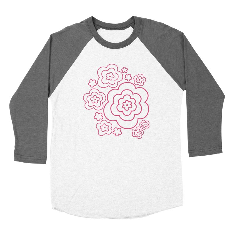 Flower Power Women's Baseball Triblend Longsleeve T-Shirt by elizabethreay's Artist Shop