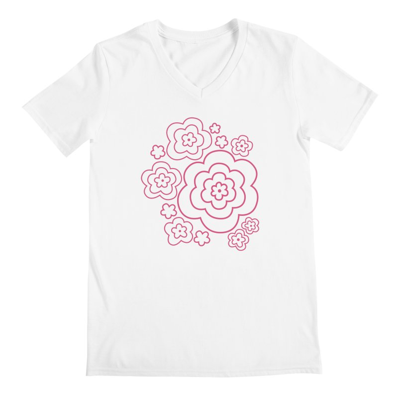 Flower Power Men's V-Neck by elizabethreay's Artist Shop