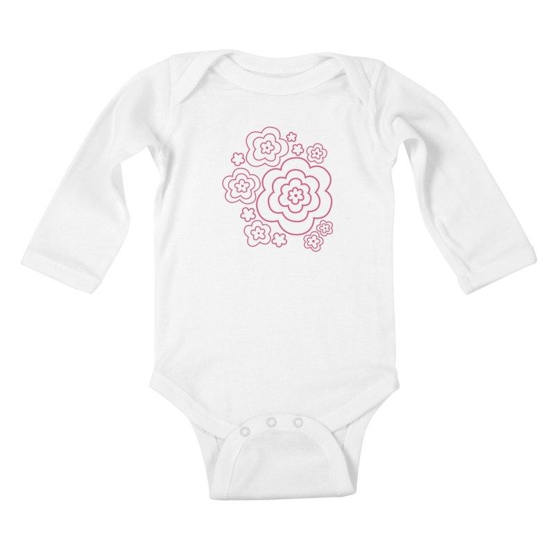 Flower Power Kids Baby Longsleeve Bodysuit by elizabethreay's Artist Shop