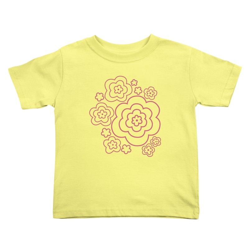 Flower Power Kids Toddler T-Shirt by elizabethreay's Artist Shop