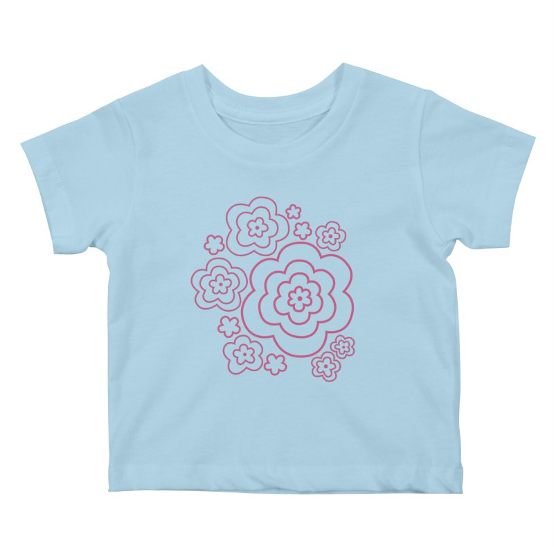 Flower Power Kids Baby T-Shirt by elizabethreay's Artist Shop
