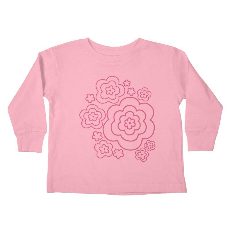 Flower Power Kids Toddler Longsleeve T-Shirt by elizabethreay's Artist Shop