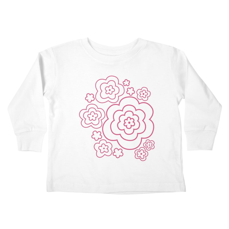 Flower Power Kids Toddler Longsleeve T-Shirt by elizabethreay's Artist Shop