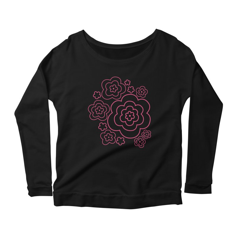 Flower Power Women's Scoop Neck Longsleeve T-Shirt by elizabethreay's Artist Shop