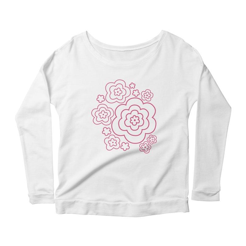 Flower Power Women's Longsleeve T-Shirt by elizabethreay's Artist Shop
