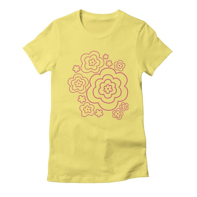 Flower Power Women's Fitted T-Shirt by elizabethreay's Artist Shop