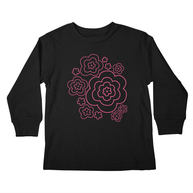 Flower Power Kids Longsleeve T-Shirt by elizabethreay's Artist Shop