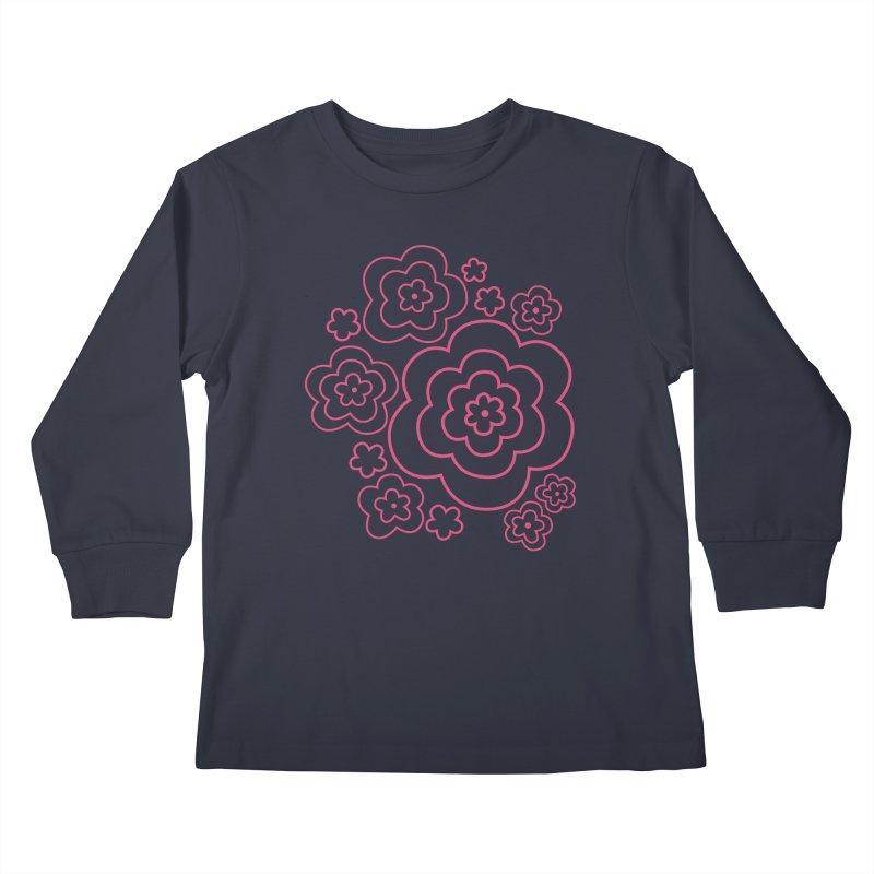 Flower Power Kids Longsleeve T-Shirt by elizabethreay's Artist Shop