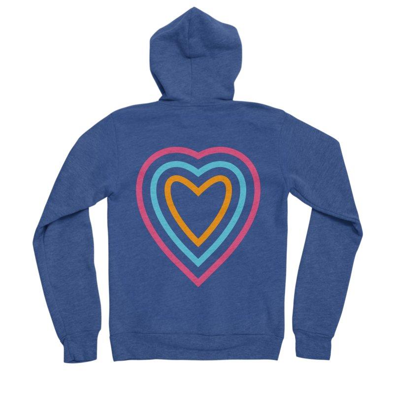 Color Love Men's Sponge Fleece Zip-Up Hoody by elizabethreay's Artist Shop