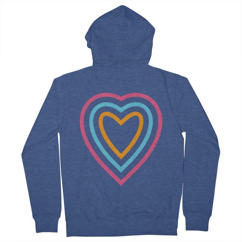 Color Love Men's French Terry Zip-Up Hoody by elizabethreay's Artist Shop
