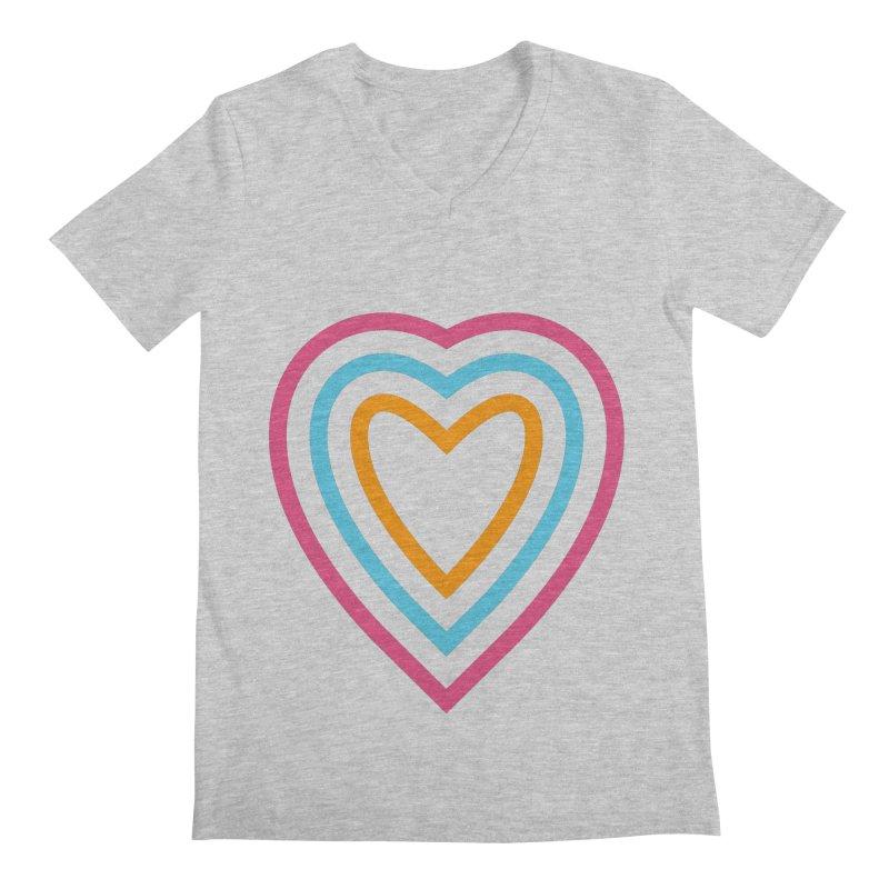 Color Love Men's Regular V-Neck by elizabethreay's Artist Shop