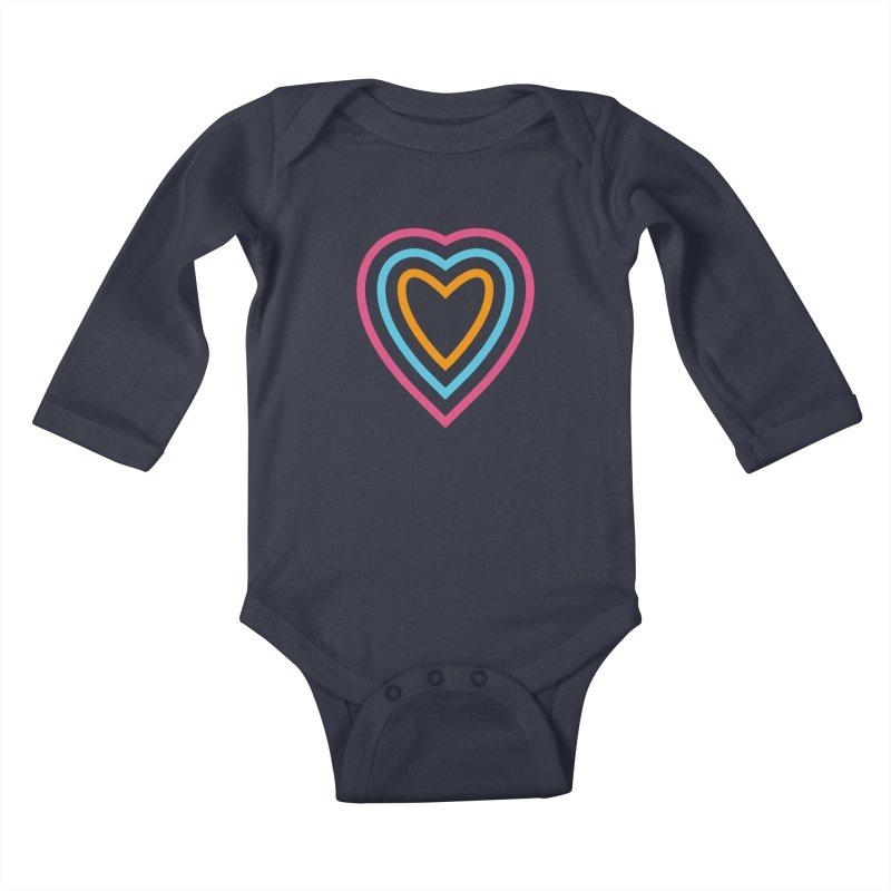 Color Love Kids Baby Longsleeve Bodysuit by elizabethreay's Artist Shop