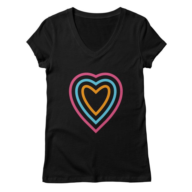 Color Love Women's V-Neck by elizabethreay's Artist Shop