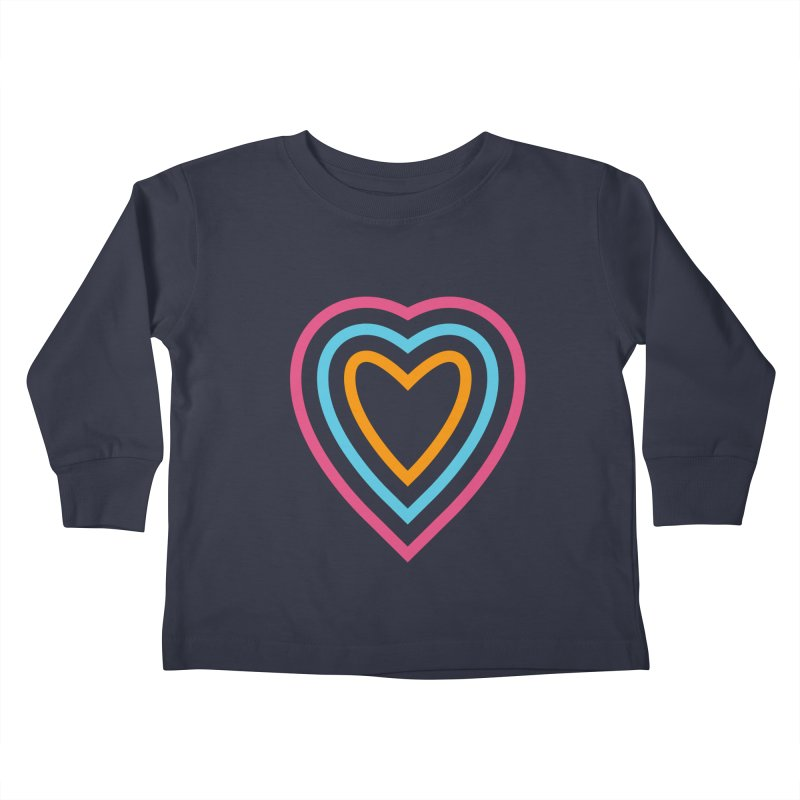 Color Love Kids Toddler Longsleeve T-Shirt by elizabethreay's Artist Shop