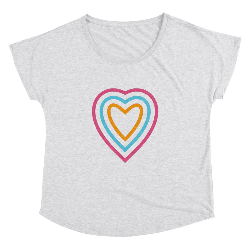 Color Love Women's Dolman Scoop Neck by elizabethreay's Artist Shop