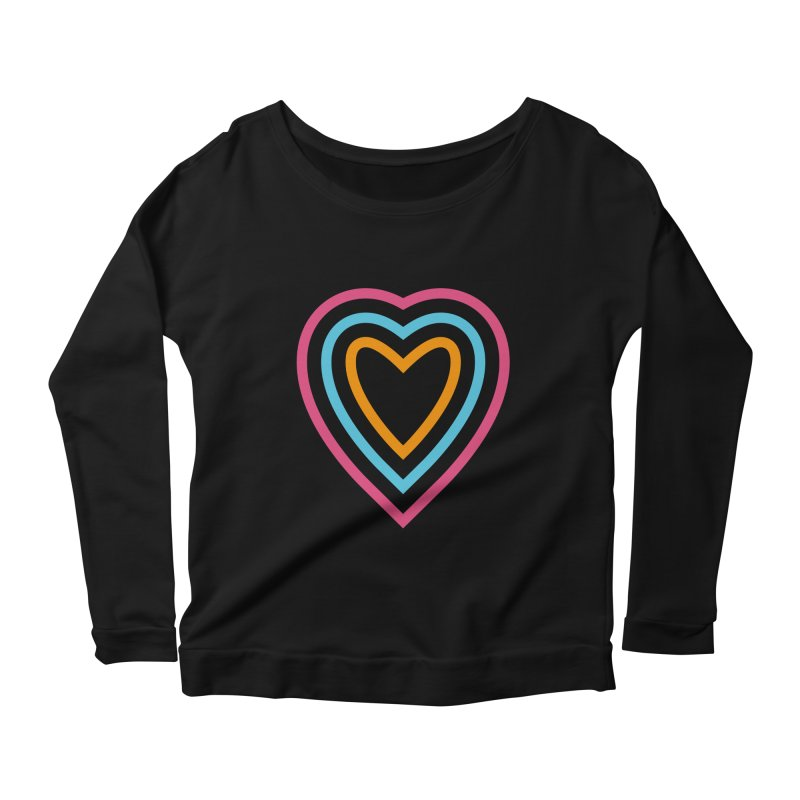 Color Love Women's Scoop Neck Longsleeve T-Shirt by elizabethreay's Artist Shop