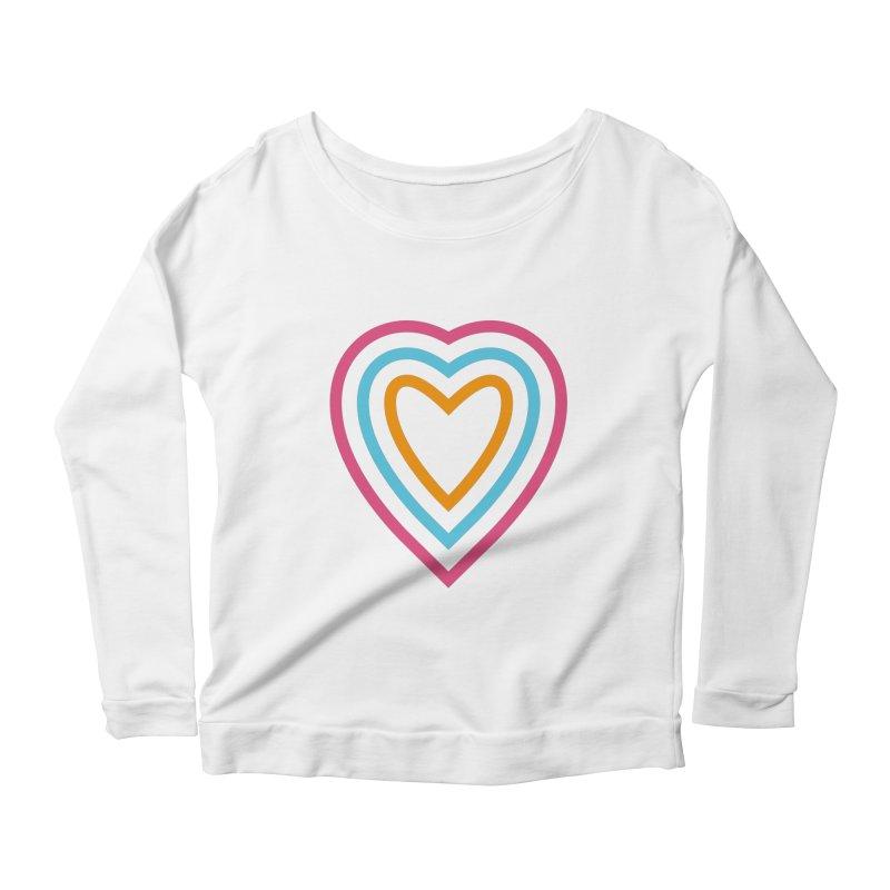 Color Love Women's Scoop Neck Longsleeve T-Shirt by elizabethreay's Artist Shop