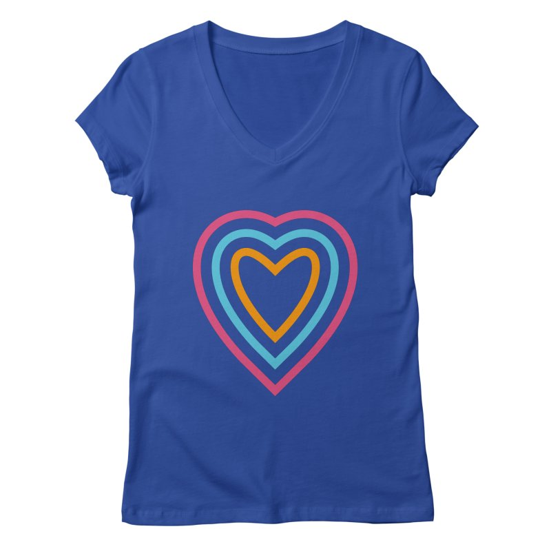 Color Love Women's Regular V-Neck by elizabethreay's Artist Shop