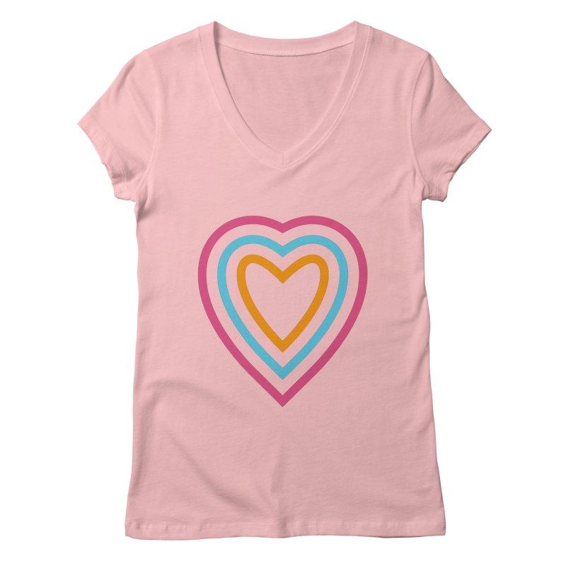Color Love Women's Regular V-Neck by elizabethreay's Artist Shop