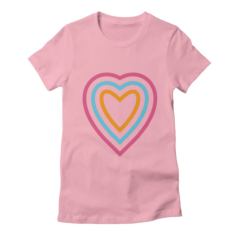 Color Love Women's Fitted T-Shirt by elizabethreay's Artist Shop