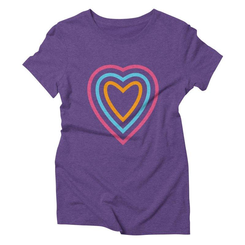 Color Love Women's Triblend T-Shirt by elizabethreay's Artist Shop
