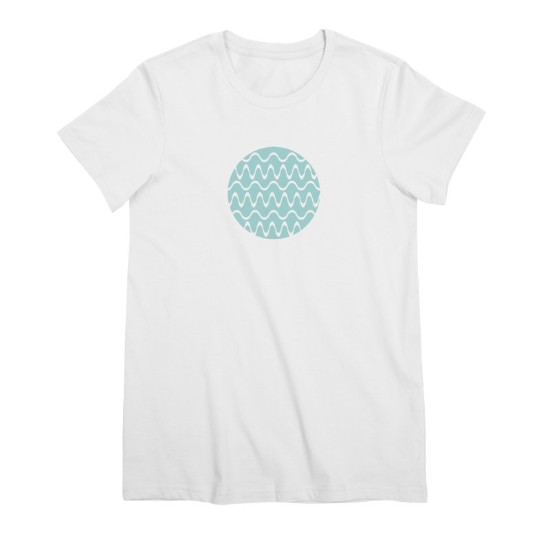 Planet Wave Women's Premium T-Shirt by elizabethreay's Artist Shop