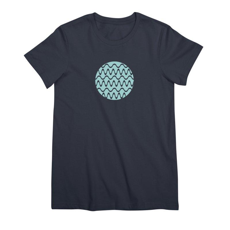 Planet Wave Women's Premium T-Shirt by elizabethreay's Artist Shop