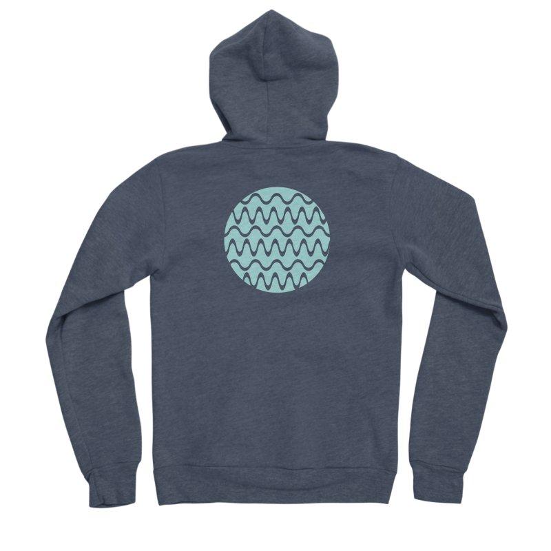 Planet Wave Men's Sponge Fleece Zip-Up Hoody by elizabethreay's Artist Shop