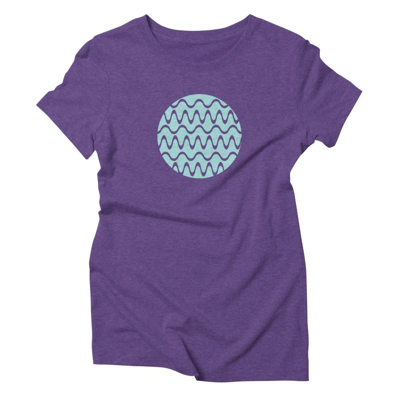 Planet Wave Women's T-Shirt by elizabethreay's Artist Shop