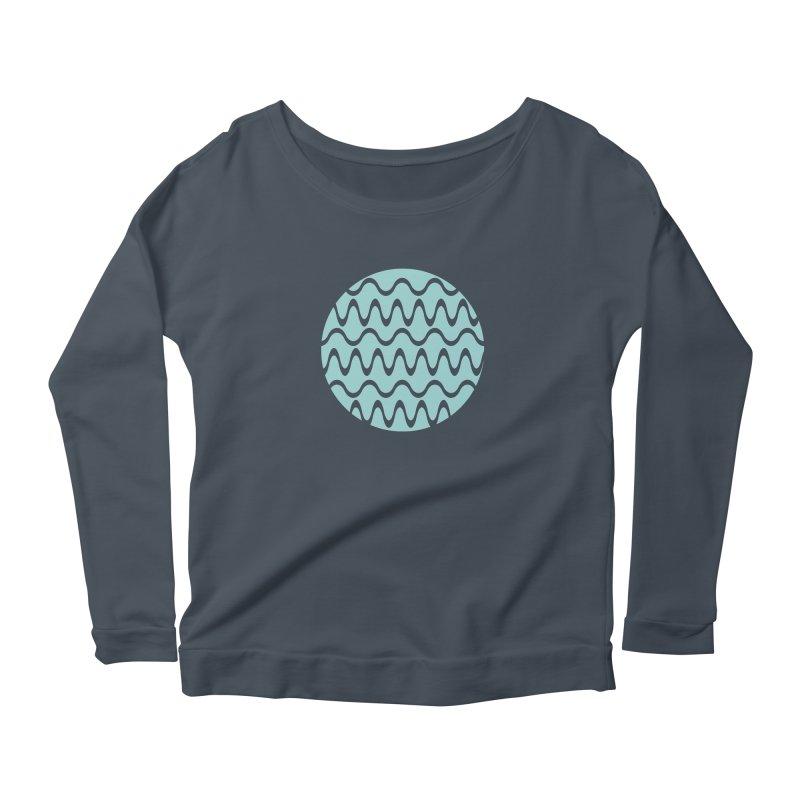 Planet Wave Women's Scoop Neck Longsleeve T-Shirt by elizabethreay's Artist Shop