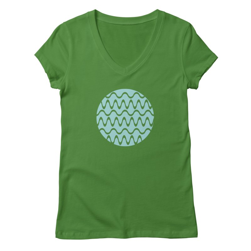 Planet Wave Women's Regular V-Neck by elizabethreay's Artist Shop