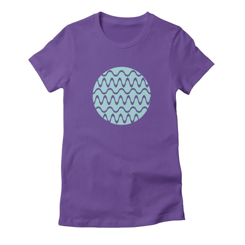 Planet Wave Women's Fitted T-Shirt by elizabethreay's Artist Shop