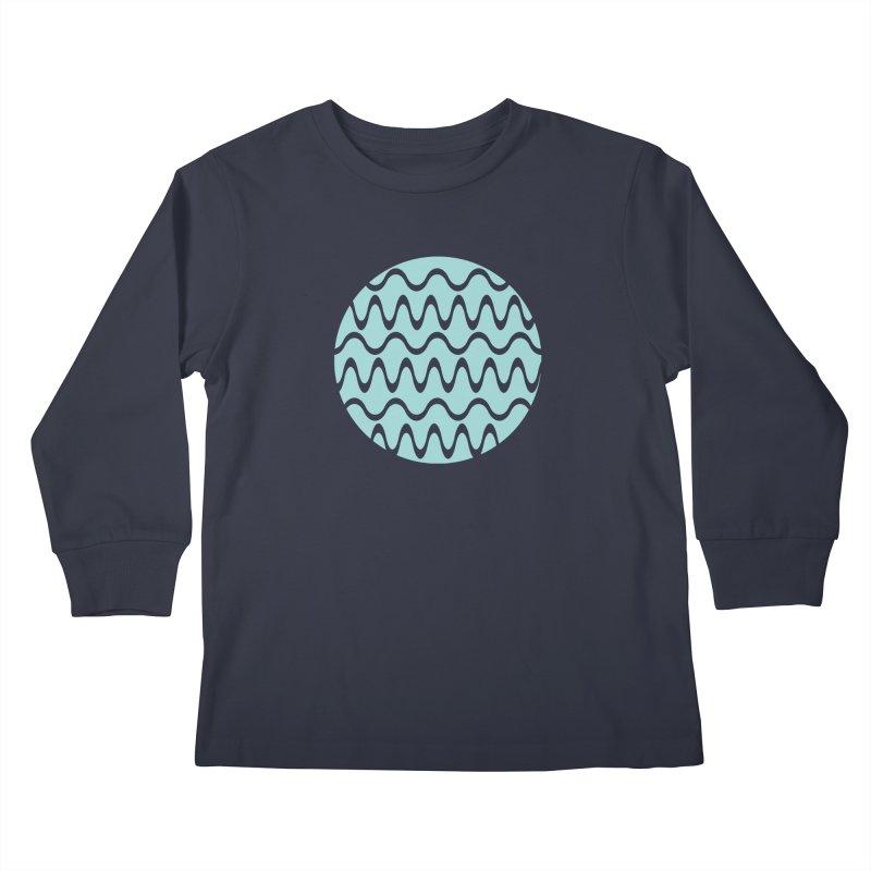 Planet Wave Kids Longsleeve T-Shirt by elizabethreay's Artist Shop